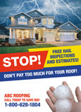 Hail Inspections Roofing Flyer