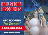 Hail Storm Damage Roofing Postcard