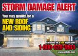 Roofing Storm Damage Postcard