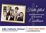 Catholic School Postcard Advertising