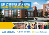 Private School Open House Marketing Postcard