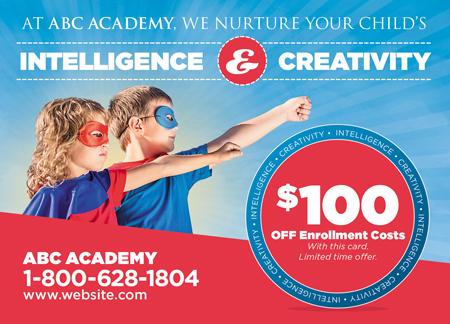 33 Brilliant Private School & Education Direct Mail Postcard ...
