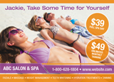 Tanning Spa Postcard Design