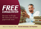 tax preparation marketing postcards