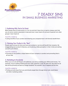 7 Deadly Sins of Small Business Marketing