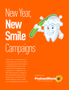 New Year, New Smile Postcard Marketing Campaigns