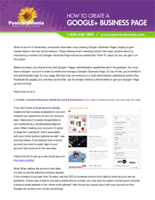 How to Set-Up a G+ Business Page