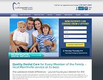 Family Dentist Website Design