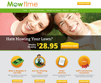 Lawn Mowing Service Website Design