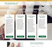 Tax Services Website Design